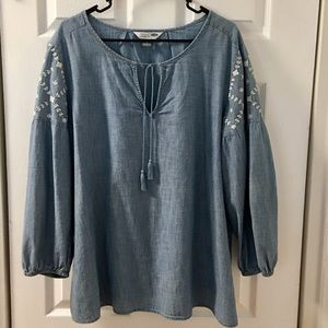 GAP Chambray Tunic with Embroidery XL